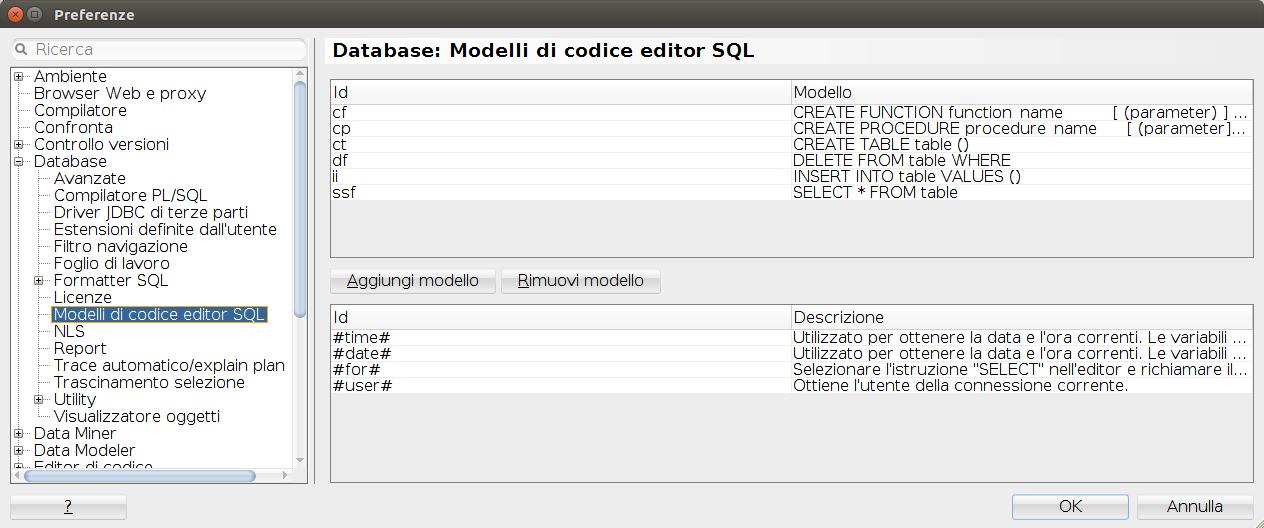 Controllo dei caratteri in SqlDeveloper